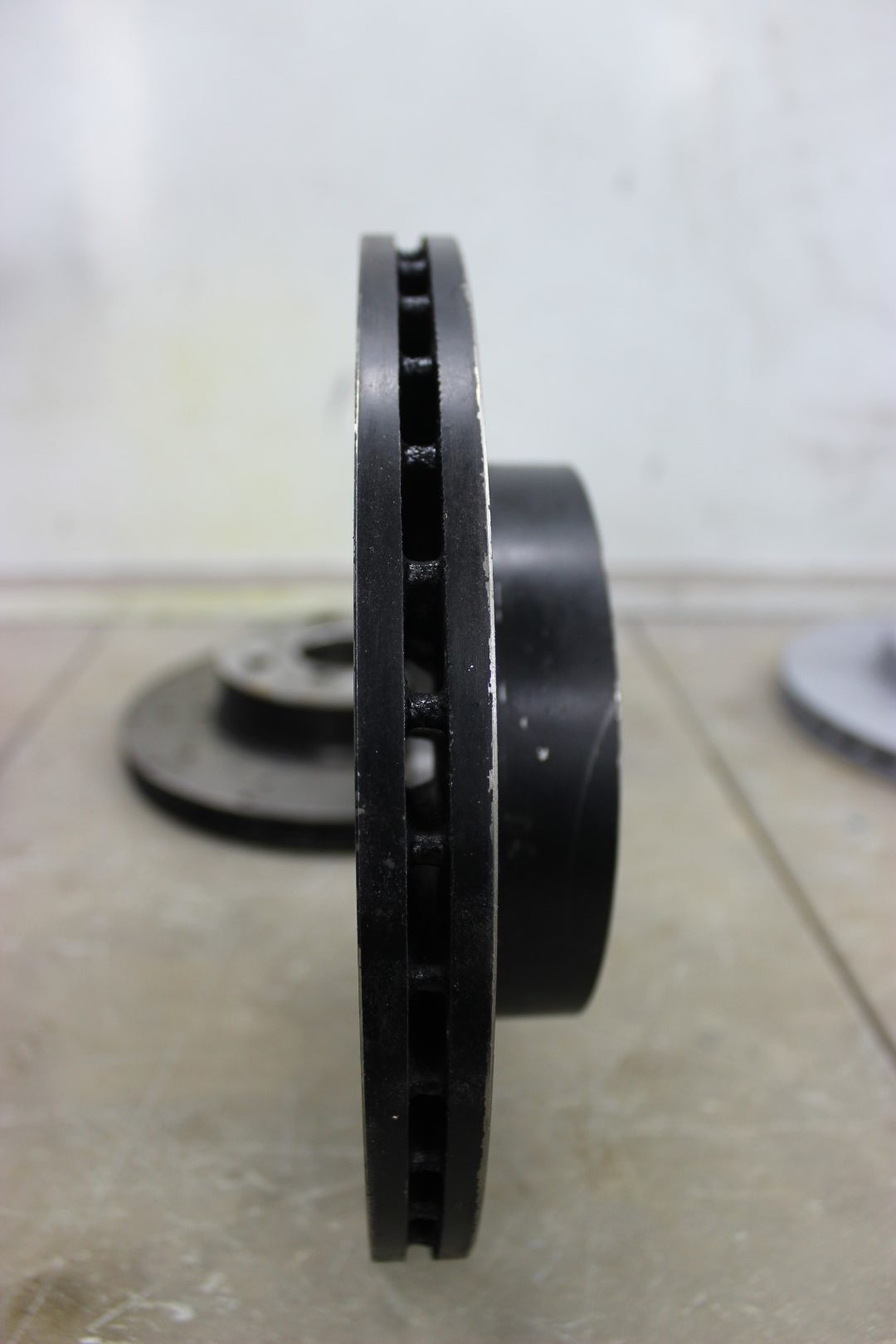 Lateral view of brake rotor